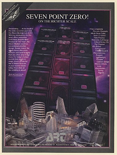 1994 A.R.T. Attack Module Amp Seven Point Zero on Richter Scale Print Ad (66097) (Zero Point Module compare prices)