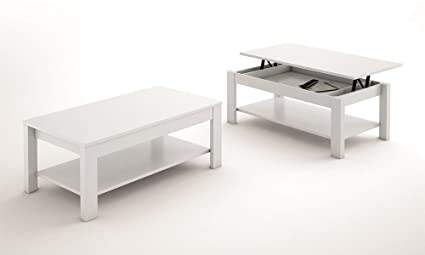 LIQUIDATODO ® - Mesa de centro elevable moderna y barata de 110X60 cm color Blanco