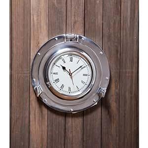11 Metal Porthole Wall Clock Home Kitchen