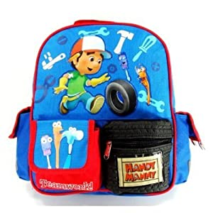 "Disney Handy Manny Backpack - 12"" Toddler Backpack"