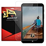 Klear Cut [3 Pack] - Screen Protector for HP Stream 7 - Lifetime Replacement Warranty - Anti-Bubble & Anti-Fingerprint High Definition (HD) Clear Premium PET Cover - Retail Packaging