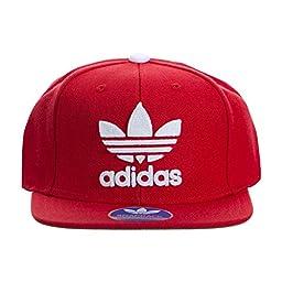 adidas Mens Men\'s originals snapback flatbrim cap, Thrasher Design/Scarlet/White, One Size