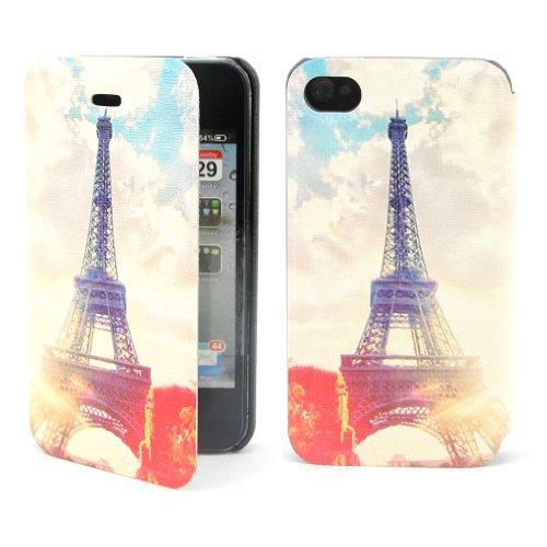 B73 Flip Leder Tasche Flip Case Cover Hülle Schale Für Apple Iphone 4 4s