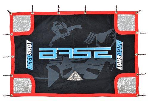 Base-74631-Accushot-Filet-pour-cage-de-hockey-avec-housse-et-sangles-lastiques-Noirbleu