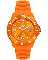 Ice Watch - SI.OE.B.S.09 - Montre Homme - Quartz Analogique - Cadran Orange - Bracelet Silicone Orange - Grand Modèle