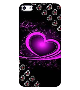 ColourCraft Love Heart Design Back Case Cover for APPLE IPHONE 4