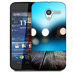 Snoogg Bokeh With Wooden Floor Designer Protective Phone Back Case Cover For Moto X / Motorola X
