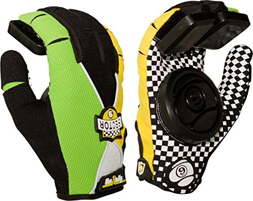 sector-9-rally-slide-gloves-youth-small-medium-green-yellow-black-skate-pads-by-sector-9