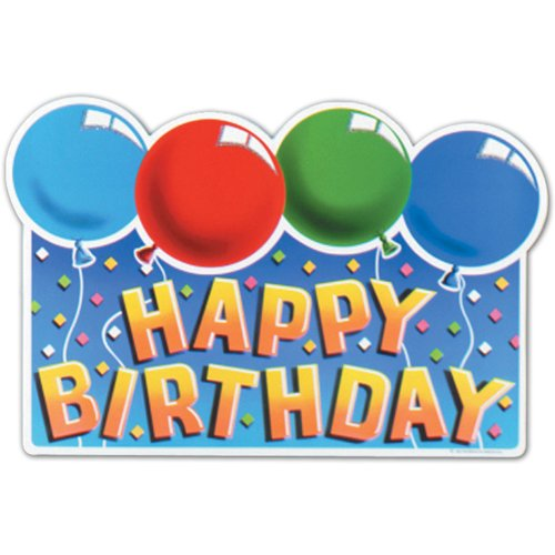 HAPPY BIRTHDAY SIGN Cutouts 3