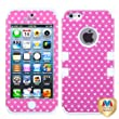 MYBAT IPHONE5HPCTUFFIM037NP Premium TUFF Case for iPhone 5 - 1 Pack - Retail Packaging - Pink Vintage Heart Dots/Solid White