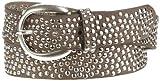 B Belt Damen Gürtel BB0209L03, Einfarbig, Gr. 100 cm, Grau (Taupe)