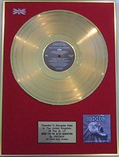 Prodigy-dischi LP in oro 24 k, per la musica Jilted Generation