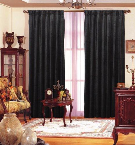 """Velvet Drape Long Panel (Black, 55"""" X 96"""")"""