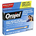 Orajel Medicated Mouth Sore Swabs, Maximum Strength, 12 ct.