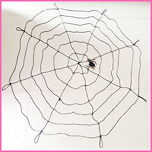 [ASSIS 5pcs/pack Halloween Super Big cobwebs Spider's Web 59 inches Black Nylon Thread] (Easy To Make Halloween Costume Ideas For Couples)