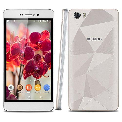 "BLUBOO Picasso 5.0"" HD IPS LTPS 3G Android 5.1 Smartphone 1280*720 Pixel RAM 2GB 16GB ROM MT6580 64 bit Quad cores 1.3GHz Dual SIM 8.0 MP Doppelkamera Handy Bluetooth GPS AGPS Hotknot ohne Vertrag Mobiltelefon Golden"