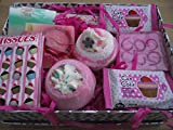 CUPCAKE SWEET SHOP BATH BLASTER / BOMB AND SOAP BATH & BODY GIFT SET - GIFT BOXED
