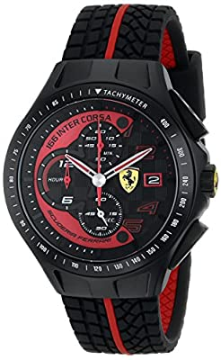 Ferrari Men's 0830077 Race Day Analog Display Quartz Black Watch