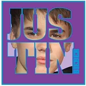 Justin Bieber Kissen - Autograph Lila/Blau 40 cm x 40 cm
