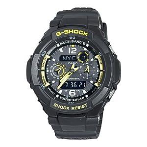 Casio Men's GW3500B-1A G-Shock Aviator Series Analog-Digital Black and Yellow Watch