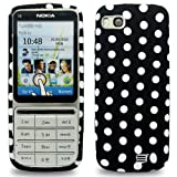 Cut Price Accessories Nokia C3-01 Polka Dot Gel Case / Black & White