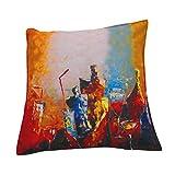 "Gunjan Creations Polyester Blend 1 Piece Cushion Cover -Multicolour, 16"" Inch X 16"" Inch - B011R1L9BE"