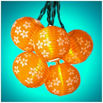Orange Flower Party String Lights