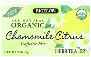 Bigelow Organic Chamomile Citrus Herb Tea, 0.91 Ounce Box