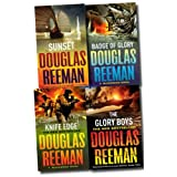 Douglas Reeman 4 Books Collection Set RRP �27.96 BlackWood Novel (Sunset, Badge Of Glory, The Glory Boys, Knife Edge) (BlackWood Novel)by Douglas Reeman