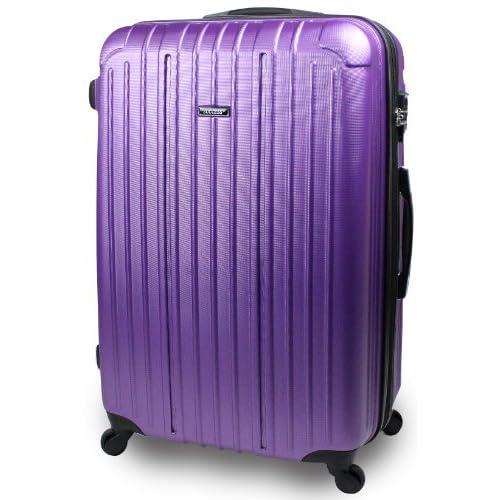【SUCCESS サクセス】 スーツケース 中型 超軽量 キャリーケース TSAロック 搭載 【エアー2014 ダブルファスナーモデル】 キズが付きにくい エンボス加工モデル (中型 67cm, ブルーバイオレット)