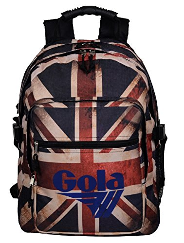 Zaino Gola Brody Full Vintage U.Jack - 42x32x14+6 - CUB149 - Black/Navy/Multi