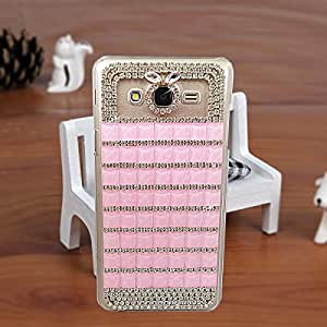 Purple Samsung E7 Fancy Cover Designer Bling Back Cover Case For Girls