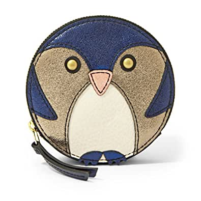 Fossil Penguin Zip Coin Sl4433681 Color: Navy Glitter Wallet