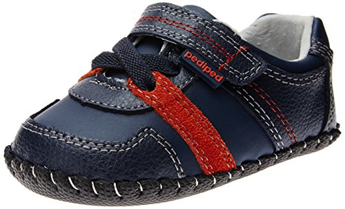 Pediped Originals Channing Crib Shoe (Infant/Toddler),Navy,Small (6-12 Months) front-1070425