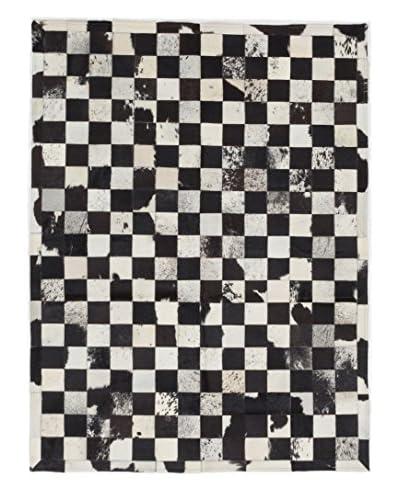 ecarpetgallery Handmade Cowhide Patch Rug, Beige, 4' x 6'