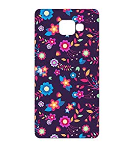 Happoz Samsung Galaxy A5 (A510) (2016) Cases Back Cover Mobile Pouches Patterns Floral Flowers Premium Printed Designer Cartoon Girl 3D Funky Shell Hard Plastic Graphic Armour Fancy Slim Graffiti Imported Cute Colurful Stylish Boys Z038
