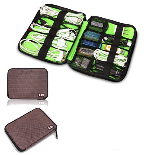 Damai Universal Cable Organizer Electronics Accessories Case Usb Drive Shuttle/ Healthcare & Grooming Kit (Coffee) front-784333