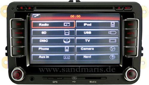 auto navigation san 510 vw navigation navi fur vw wie rns. Black Bedroom Furniture Sets. Home Design Ideas