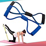 Training Resistance Bands Rope Tube Workout Exercise for Yoga 8 Type Fashion Body Fitness Random Color
