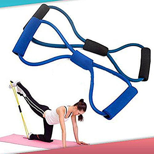 Training Resistance Bands Rope Tube Workout Exercise for Yog