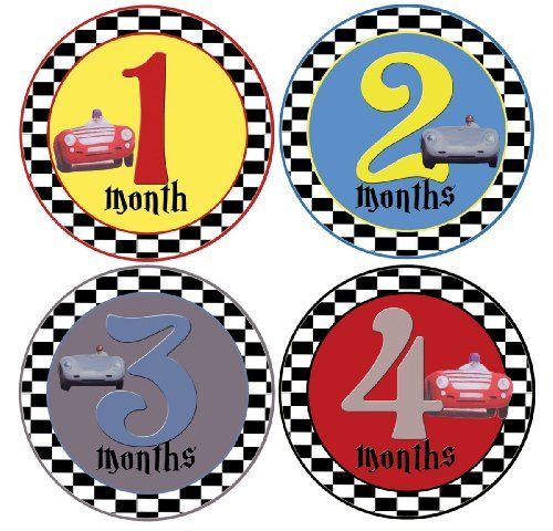 Mumsy Goose Baby Boy Stickers Monthly Age Stickers 1-12 Months