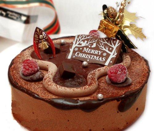 遅れてごめんね【12/27出荷】クリスマスケーキ・チョコとイチゴのスペシャルクリスマスケーキ 5号5~6人分