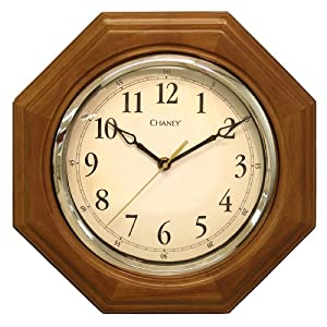 Chaney Instruments 46101A1 12 inch Octagon Wood Clock