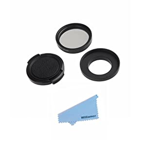Williamcr Lens Protective Cap Cover+37mm UV Filter Lens for XIAOMi Yi 2 II 4K 4K+ Action Camera Accessories