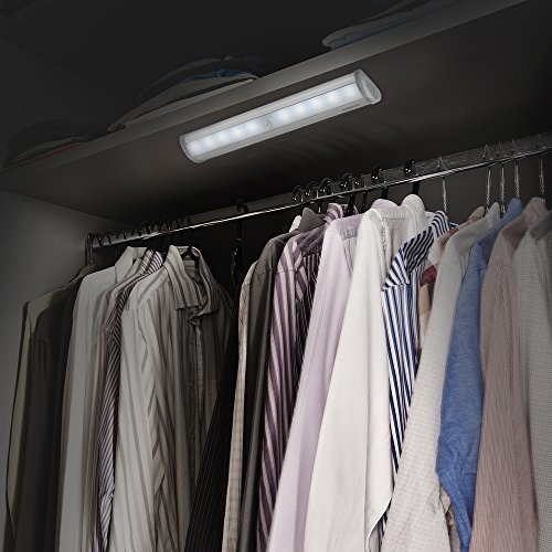 AVANTEK Luce Notturna 10 LEDs Lampade Notturne Magnetico Lampade con Sensor Movimento con Striscia Magnetica, ELF-L1