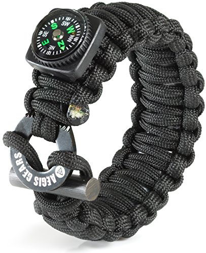 Aegis-Gears-Tactical-Paracord-Bracelet-X-Series-Emergency-Survival-Gear-for-Outdoor-Sports-Bug-Out-and-EDC-with-Fire-Starter-Compass-Fishing-Kit-and-Military-Grade-550-Cord