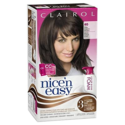 Best Cheap Deal for Clairol Nice 'n Easy Foam Hair Color 4G Dark Golden Brown 1 Kit by Clairol - Free 2 Day Shipping Available