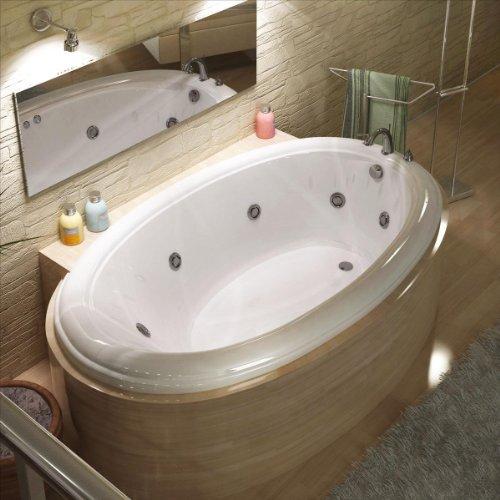 Atlantis-Whirlpools-4478pcwl-Petite-Oval-Whirlpool-Bathtub-44-X-78-Center-Drain-White