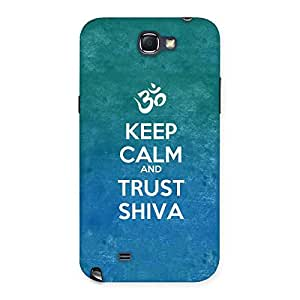 Ajay Enterprises Elite Trust Shiva Lord Back Case Cover for Galaxy Note 2