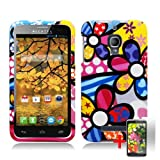 ALCATEL ONE TOUCH FIERCE COLORFUL CARTOON FLOWER COVER HARD CASE + FREE SCREEN PROTECTOR from [ACCESSORY ARENA]